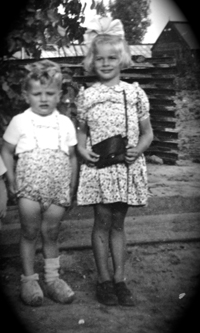 Dirk and his Sister Linda Pernis 1948