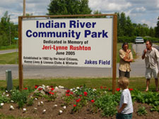 Indian River Park dedication to Jeri-Lyn
